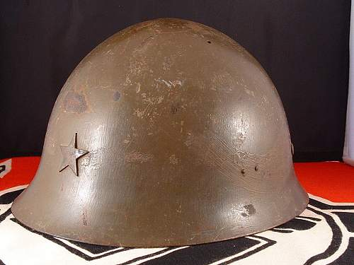 Click image for larger version.  Name:wwii japanese type 90 helmet - h124 - 3.jpg Views:60 Size:173.7 KB ID:895497