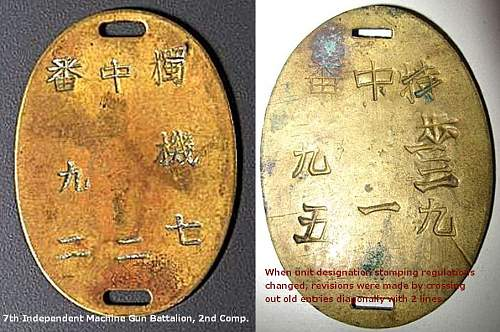 The Evolution of Japanese Army Dog Tags (1894-1945)
