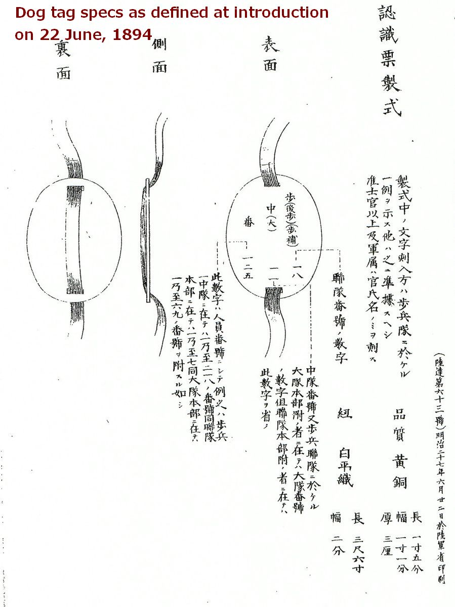 The evolution of japanese army dog tags 1894 1945 biocorpaavc Images