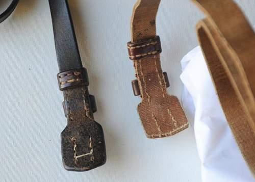 Japanese Nambu Pistol Belt and Pouch