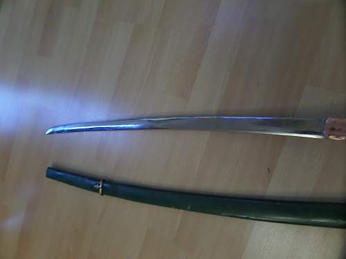 "Japanese Officer's ""Shin-gunto"" Sword ? and photos House clearance find"
