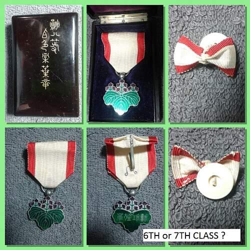 WW2 Japanese Medal Lot Help ??