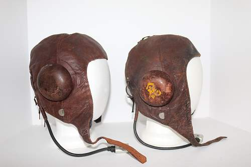 Rare , named ,Type 3 Japanese flying helmet