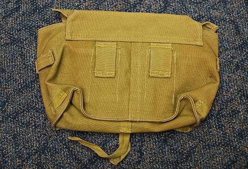 Japanese canvas pouch ID