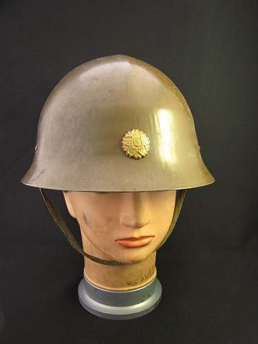 Japanese helmet: Civil defense?