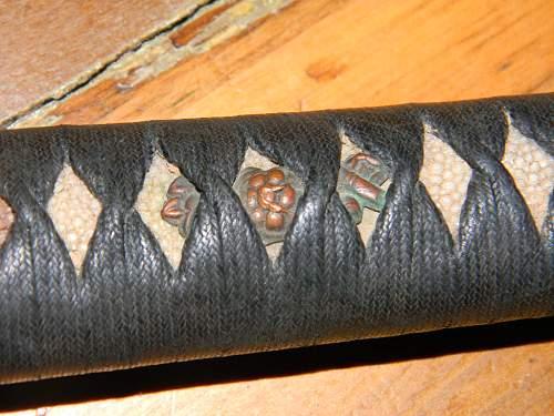 Vet bring back Japanese sword