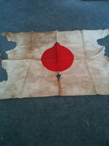 """Japanese """"meatball"""" flag from the Battle of ATTU"""