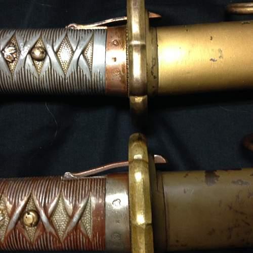 shin Gunto NCO markings.
