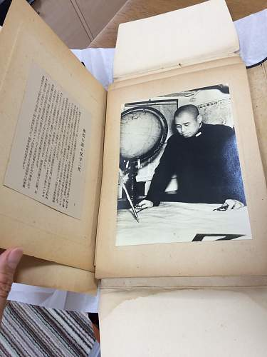 Photo album with 40 Original pictures from WWII from Yomiuri Shimbun.