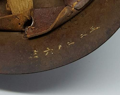 Japanese Navy T90 Helmet with Kanji and western numerals
