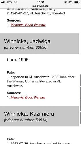 Prisoner of Auschwitz - help please