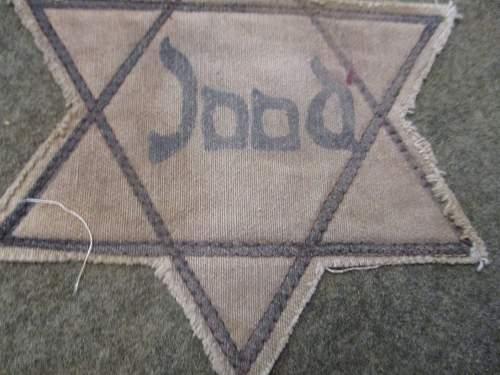 Jewish Star armband and Dutch star