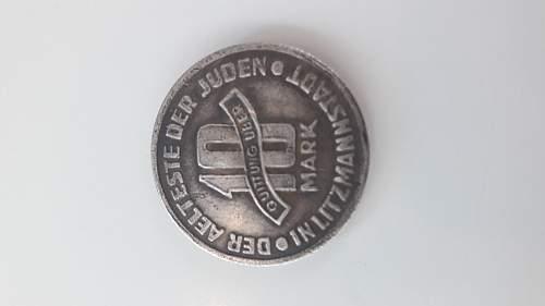 Litzmannstadt getto coin
