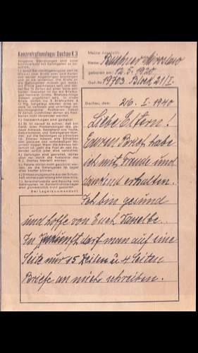 Concentration Camp Letter?