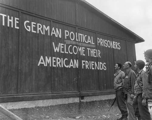 2 photos - Liberation of Buchenwald