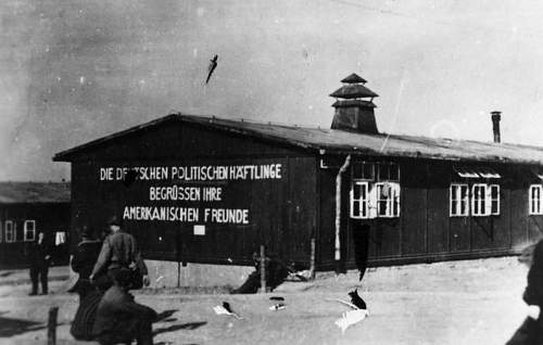 2 photos - Liberation of Buchenwald