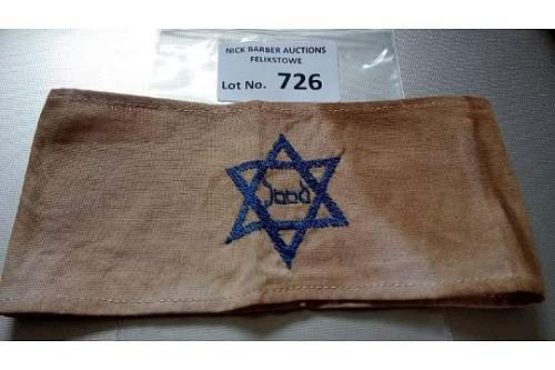 Jewish Concentration camp armband - opinion needed