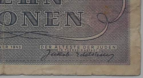 Heydrich and the Theresienstadt banknotes
