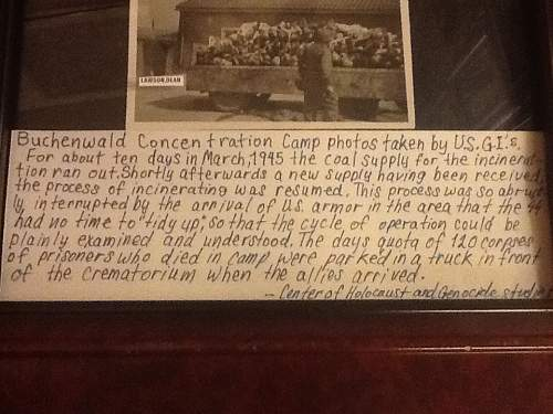 Buchenwald framed liberation (graphic)to victims..