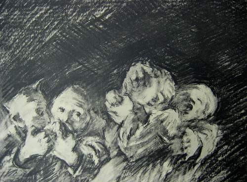 24 drawings from the concentration camps in Germany by Jerzy Zieleziński