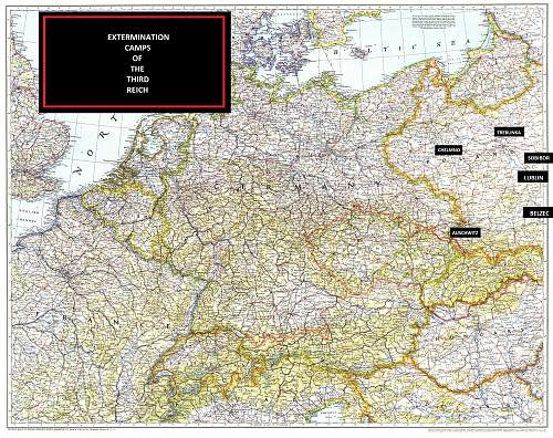 Map Of The Extermination Camps