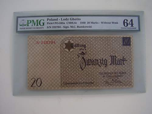 Concentration Camp and Ghetto Currency