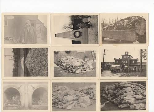 WARNING - GRAPHIC IMAGES - Lot of 9 Pictures Taken at KL Buchenwald - Opinions Needed