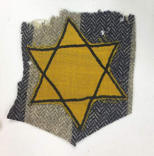 Cut Star of David Patch & Other Items From Supposed Vet Estate