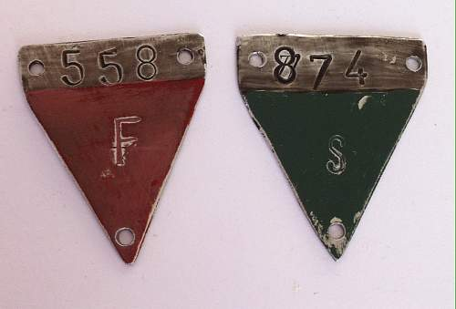 Need help!  camp badges/triangles green and red