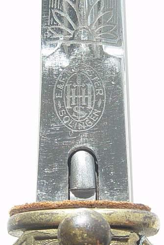 Click image for larger version.  Name:Kriegsmarine dagger maker mark.jpg Views:200 Size:169.1 KB ID:58645