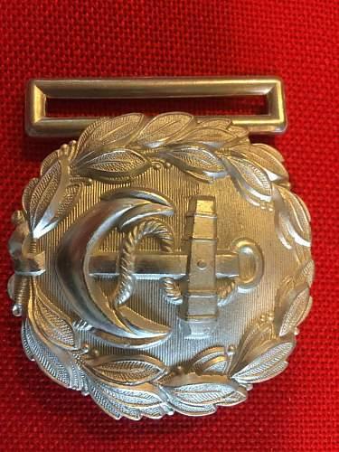 Kriegsmarine admin buckle by Emil Juttner?
