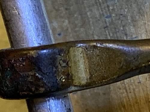 R. S. & S.  One prong heer belt buckle
