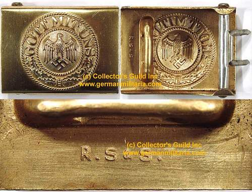 Mint KM gold EM buckle