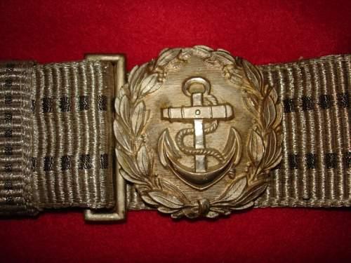 Marine officials brocade