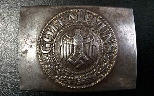 Eagle over M stamped belt, also fake buckle?
