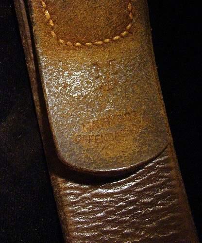 Navy belt and buckle