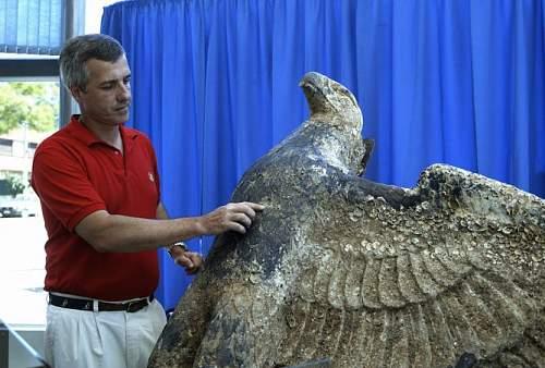 Massive Kriegsmarine eagle found in the sea
