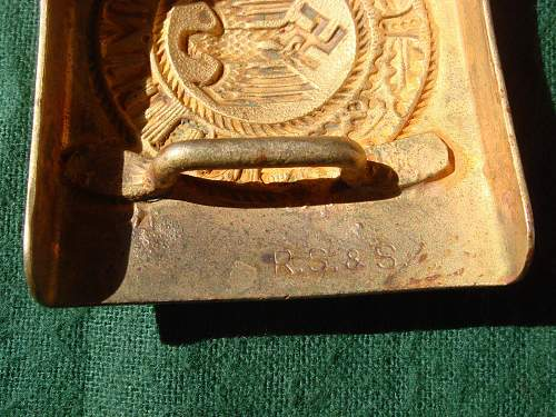 RS&S gold steel buckle