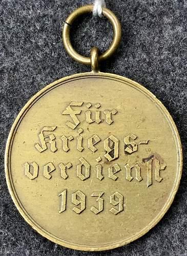 The unusual Kriegsverdienstmedaille