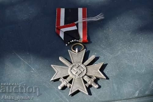 Fake? Kriegsverdienstkreuz 2.Klasse mit Schwertern