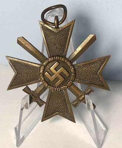 """Kriegsverdienstkreuz 2.Klasse mit Schwertern """"41"""" Gebrüder Bender"""
