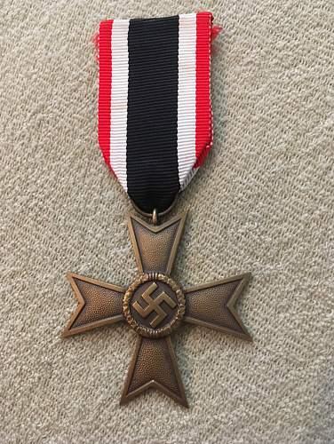 Kriegsverdienstkreuz 2.Klasse With and without sword