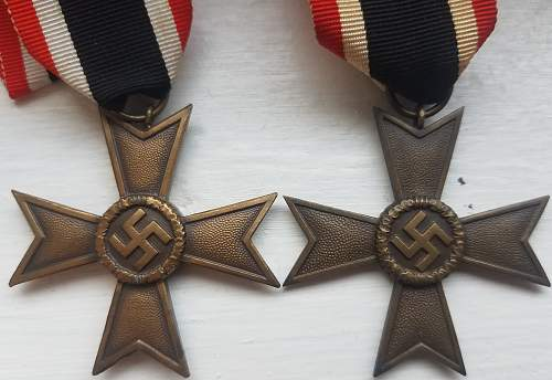 2 Kriegsverdienstkreuz, are these original?