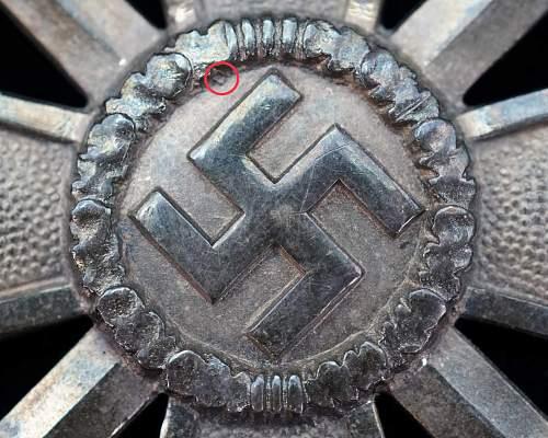 900 Silver L/52 Kriegsverdienstkreuz 1.Klasse mit Schwertern - Zimmermann