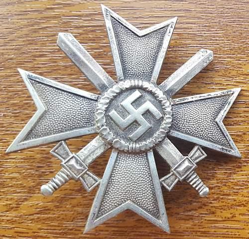 Pictures of My Krigsverdienstkreuze 1. Klasse mit Schwertern, 1st Class War Merit Cross with Swords