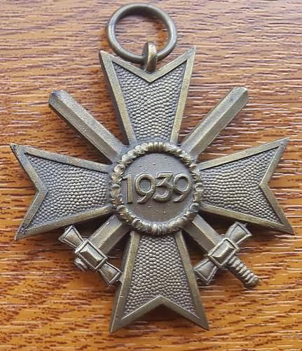 Pictures of my Krigsverdienstkreuze 2. Klasse mit Schwertern, 2nd Class War Merit Cross with Swords