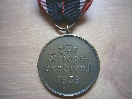 Kriegsverdienstmedaille (war merit medal).