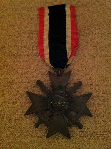 German WW2 medal and unkown envelope.