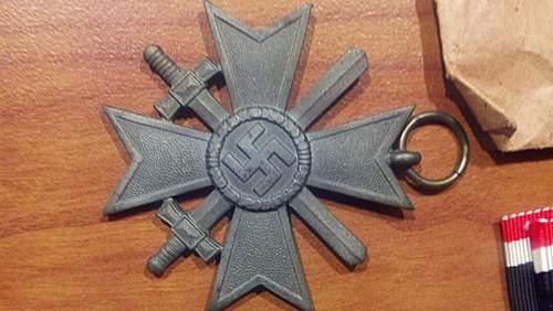 Kriegverdienstkreuz 1st & 2nd Klasse.