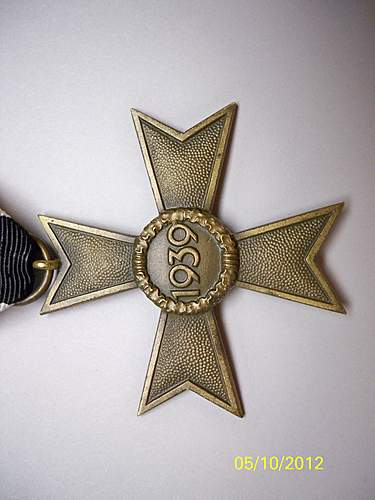 Kriegsverdienstkreuz 2.Klasse ohne Schwerten.